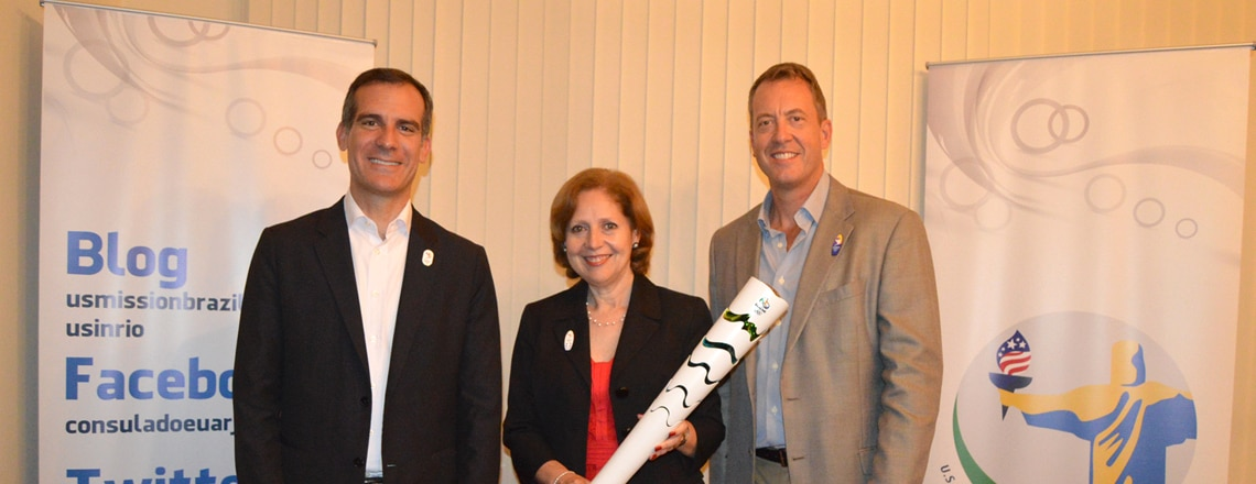 #USinRio joins #FollowTheSun to promote LA2024 bid