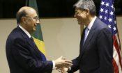 Henrique Meirelles recebe o secretário de Tesouro dos EUA