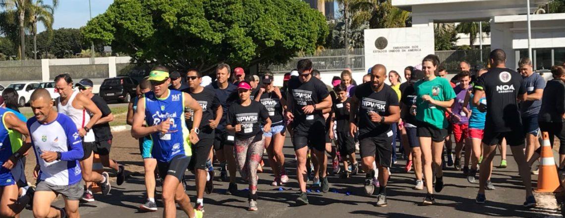 Embaixada e parceiros dos EUA celebram a Semana Nacional da Polícia com 5km pela caridade