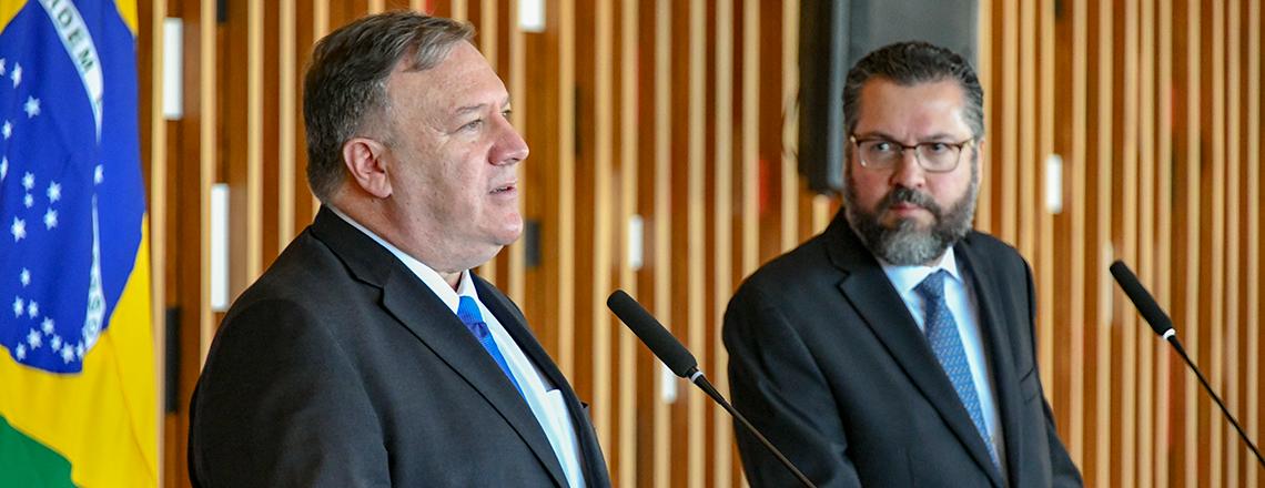 Declaração do secretário Pompeo com o ministro das Relações Exteriores do Brasil Araújo