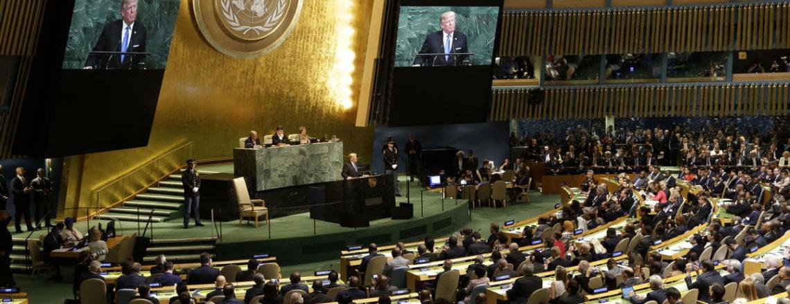 Pronunciamento do Presidente Trump na 72a Sessão da Assembleia Geral as Nações Unidas