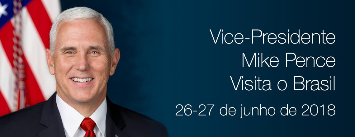 Chegada do vice-presidente dos EUA Mike Pence a Brasília no dia 26 de junho